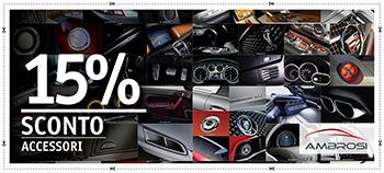 15% di sconto sugli accessori auto