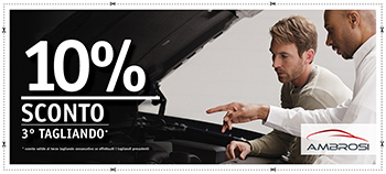 10% di sconto sul 3° tagliando