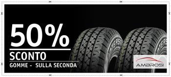 50% di sconto sulla seconda gomma